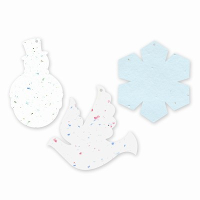 Grow-A-Note® Blank Plantable Ornaments