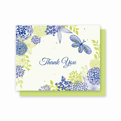 Grow-A-Note® Thank You Flowers & Butterfly