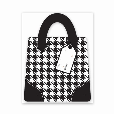 Gift & Grow Purse Gift Card Holder Houndstooth