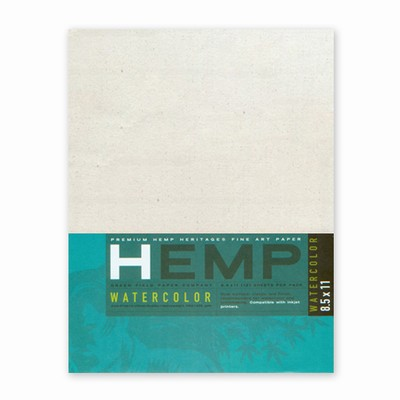 Hemp Heritage® Watercolor Paper Art Pack, Medium 8.5