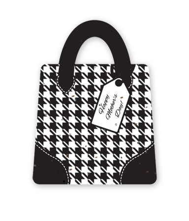 Gift & Grow Mothers Day Purse Gift Card Holder Houndstooth