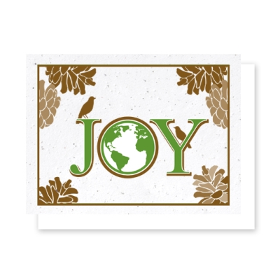 Pine Cone Joy seasons greetings plantable card