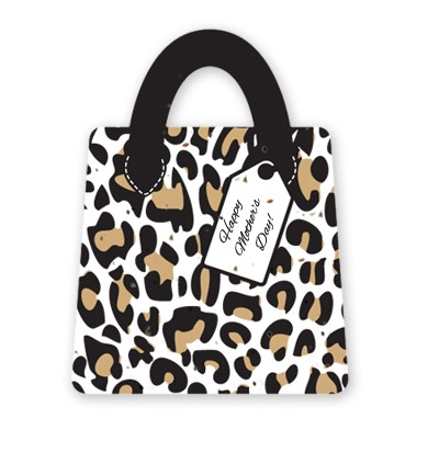 Gift & Grow Mothers Day Purse Gift Card Holder Leopard
