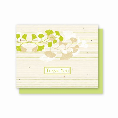 Grow-A-Note® Ginkgo Thank You