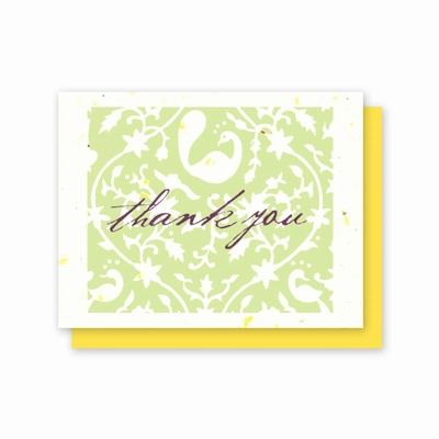 Grow-A-Note® Thank You Speckled Yellow