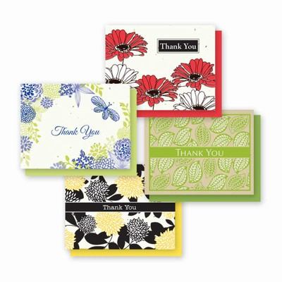 Grow-A-Note® A2 Thank You Floral Chic Variety Pack