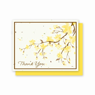 Grow-A-Note® Thank You Yellow Flowers