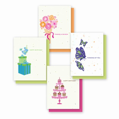 Grow-a-Note® Simply Natural Occasion Cards Variety Pack