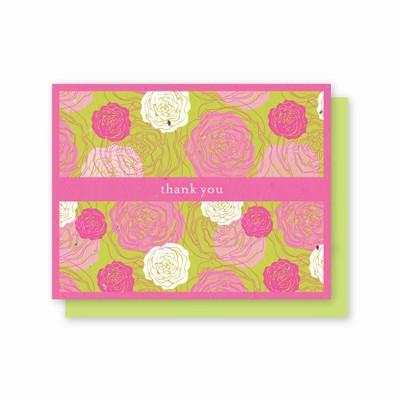 Grow-A-Note® Hot Pink Flora Thank You