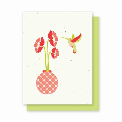Grow-a-Note® Hummingbird Flower Vase