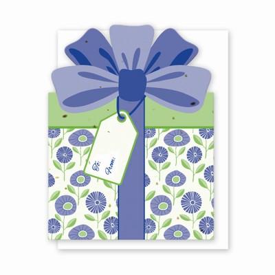 Gift & Grow Present Gift Card Holder Purple Buds