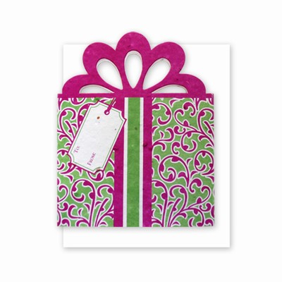 Grow-A-Note® Personal Touch Gift Card Holder™ Fuschia/Green 4 Pack