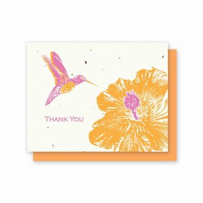 Grow-A-Note® Thank You Hummingbird Hibiscus