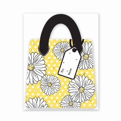 Gift & Grow Purse Gift Card Holder Daisy