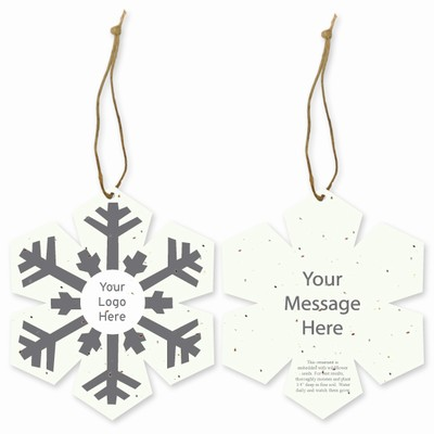 Grow-A-Note® Customizable Plantable Snowflake Ornaments - Traditional