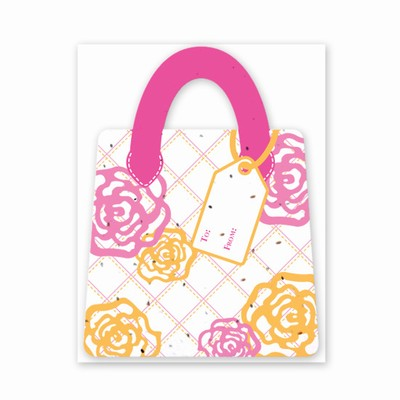 Gift & Grow Purse Gift Card Holder Hot Rose