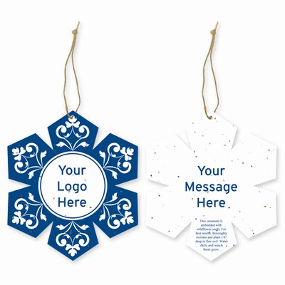 Grow-A-Note® Customizable Plantable Snowflake Ornaments - Swirl