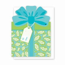 Gift & Grow Present Gift Card Holder Blue/Green Paisley