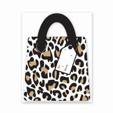 Gift & Grow Purse Gift Card Holder Leopard