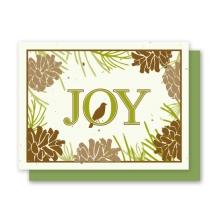 Pine Cone Joy seasons greetings plantable card