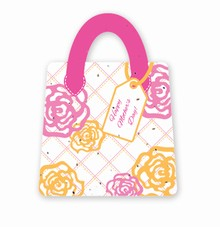 Gift & Grow Mothers Day Purse Gift Card Holder Hot Rose