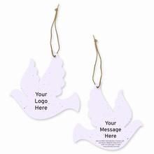 Grow-A-Note® Customizable Plantable Ornaments - Dove