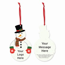 Grow-A-Note® Customizable Plantable Ornaments - Snowman