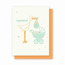 Grow-a-Note® Baby Stork