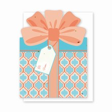 Gift & Grow Present Gift Card Holder Coral/Blue Geo