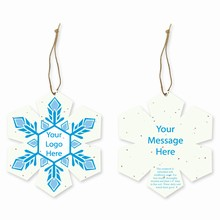 Grow-A-Note® Customizable Plantable Snowflake Ornaments - Crystal
