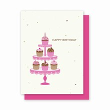 Grow-a-Note® Happy Birthday Cupcakes