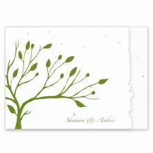 Tree Deckle Edged Invitation